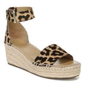 Franco Sarto Pela Leopard Espadrille Sandals Women